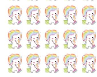 Cleaning Rainbow Unicorn | 038 | Planner Stickers | Kikki-K | Happy Planner | Erin Condren