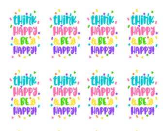 Think Happy Be Happy | Inspirational Quotes | C08 | Planner Stickers | Kikki-K | Happy Planner | Erin Condren