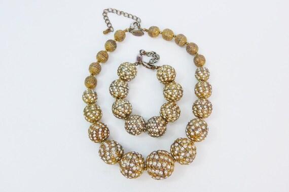 Vintage Scaasi Demi Parure Necklace & Bracelet Se… - image 4