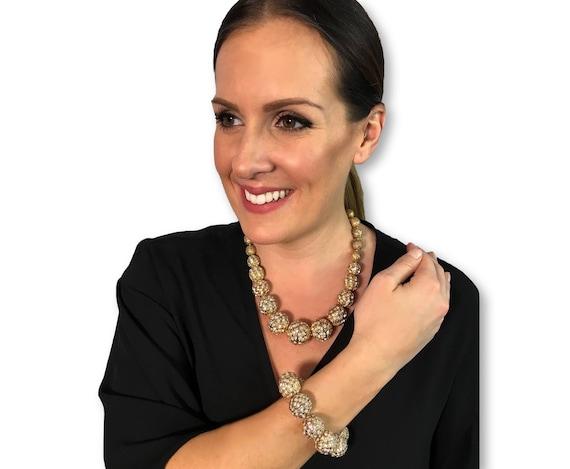 Vintage Scaasi Demi Parure Necklace & Bracelet Se… - image 3