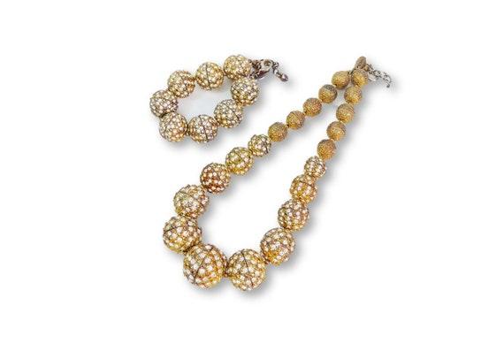 Vintage Scaasi Demi Parure Necklace & Bracelet Se… - image 1