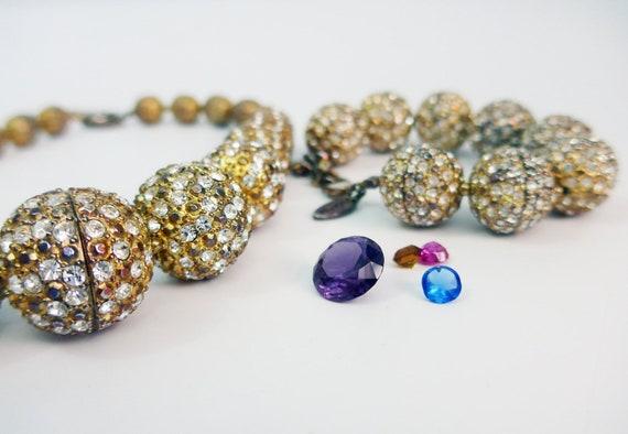Vintage Scaasi Demi Parure Necklace & Bracelet Se… - image 2