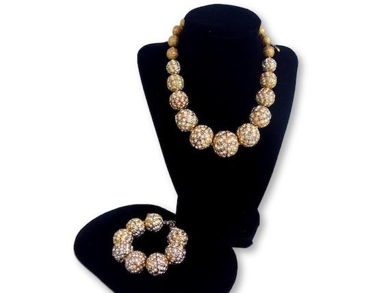 Vintage Scaasi Demi Parure Necklace & Bracelet Se… - image 5