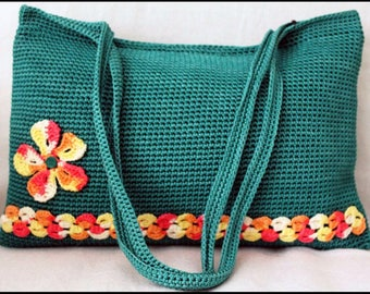 Zippered Crochet bag fully and professionally lined
