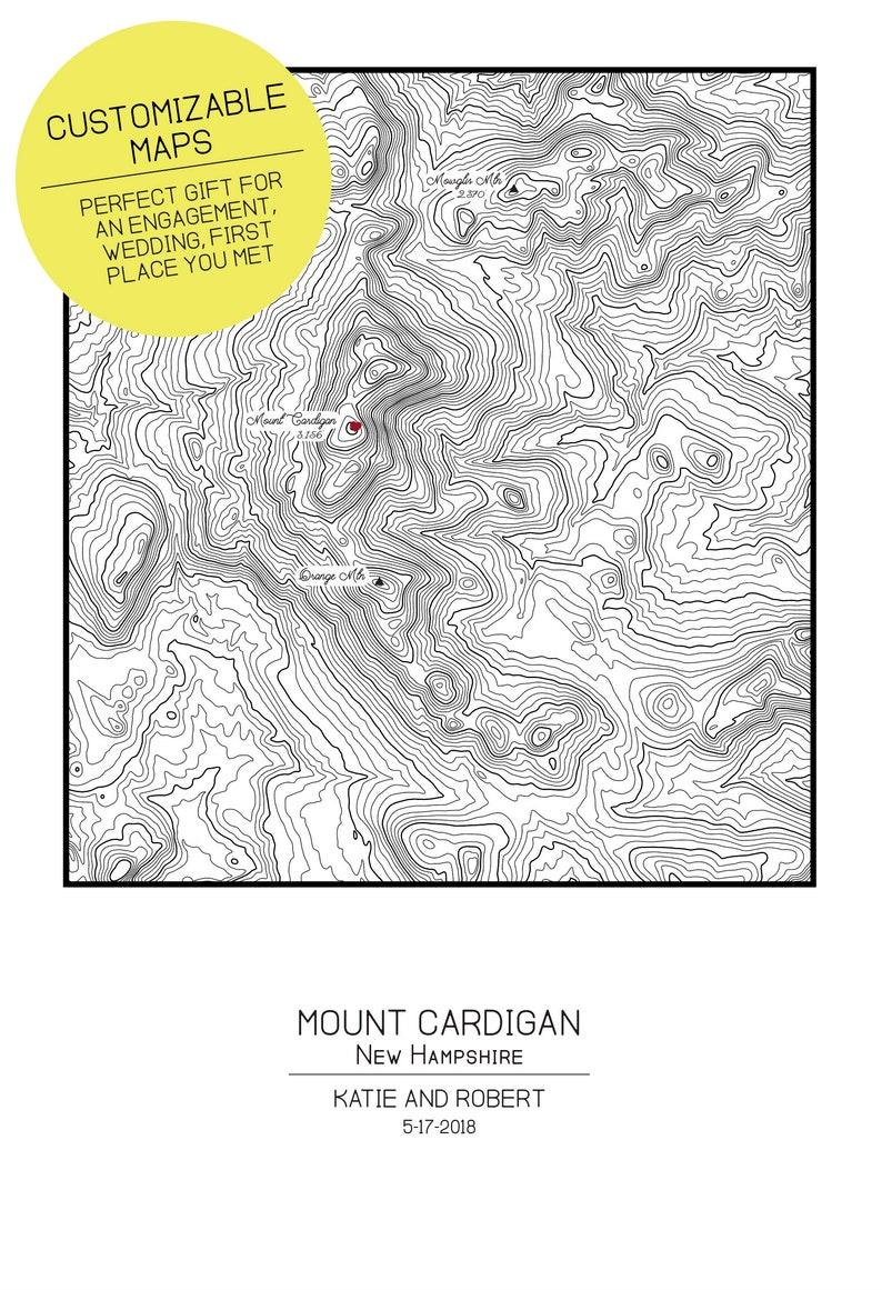 Springer Mountain Georgia Appalachian Trail Topographic Map