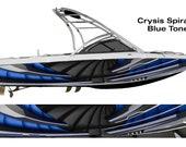 Crysis Spiral Custom Boat Wrap Design Blue Shade