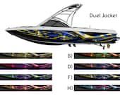 Duel Jacket Custom Wakeboarding Boat Wrap 3M Cast Wrap Vinyl