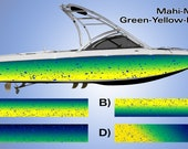 Mahi Mahi Custom Wakeboarding Boat Wrap 3M Cast Wrap Vinyl Dolphin Fish Design