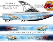 Snook Hunting Mangroves Custom Boat Wrap Design