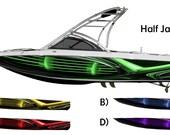 Half Jacket Custom Wakeboarding Boat Wrap 3M Cast Wrap Vinyl