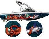The Krakens Revenge II - 3M Boat Wrap Wakeboarding Cast Wrap Vinyl