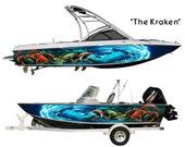 The Kraken Custom Boat Wrap Design