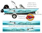 Tarpon Shallows Custom Boat Wrap Design