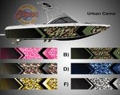 Urban Camo Arrow Hunting Wakeboarding Boat Wrap 3M Cast Wrap Vinyl