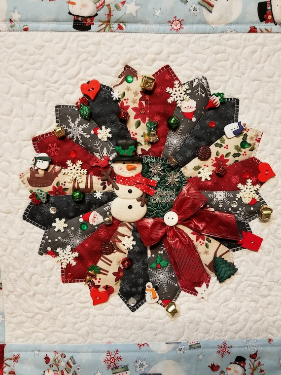 Christmas Decor Quilted Wall Homemade Farmhouse