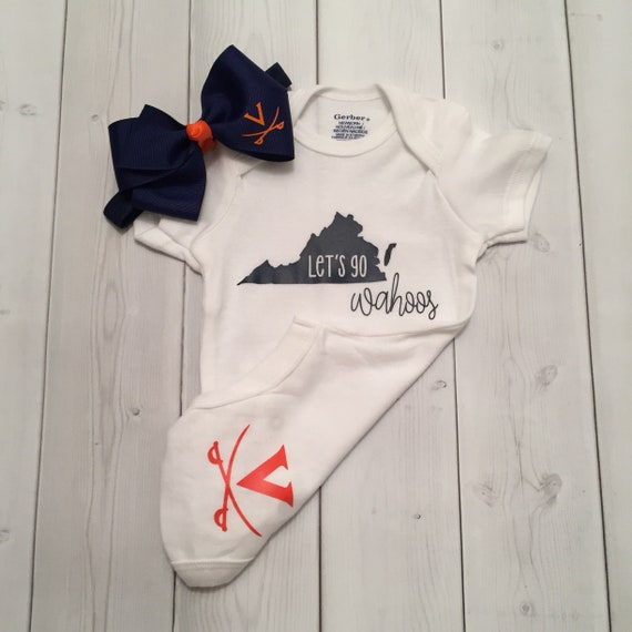 Football onesie for a sports baby shower 293748 University of Virginia Cavaliers