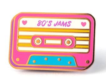 Mixtape Retro Cassette - Cute Hard Enamel Pin - Cute Lapel Pin Gift