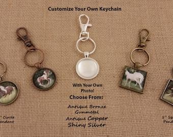 Photo Pendant, Your Own Photo, Photo Jewelry, Photo Keychain, Custom Keychain, Pendant Keychain, Family Keychain, Pet Keychain, Custom Gift