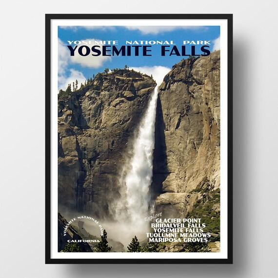 Yosemite National Park Print: Yosemite Poster Yosemite Print National Park Print
