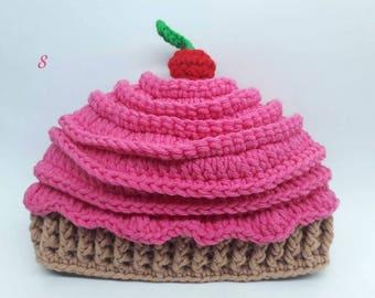 Cupcake Crochet Hat.