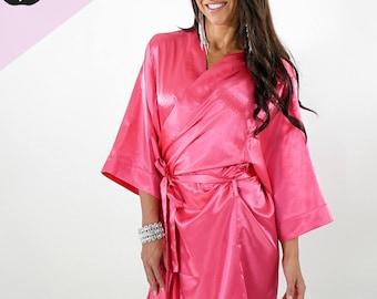 28d1a7e33e Fuchsia Pink Figure   Bikini Bodybuilding Competition Robe by Vicky Ross Fit