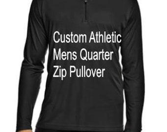 5e6fb75b Custom Mens Athletic Quarter-Zip - Custom Activewear - Mens Clothing- Custom  Mens Shirt - Athletic Shirt - Custom Pullover - Design Your Own