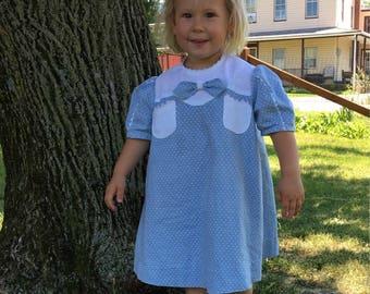 Vintage 1930's Girl's Polka Dot Dress Size 2