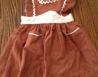 Vintage 1940's Baby's Pinafore Apron Size 6mo