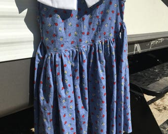 Vintage 1955 Girl's Dress Size 6