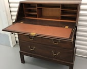 Free Shipping English Furniture Maker Designer Gordon Russell Drop Front Desk Secretary 1961 Original as Found Great Vintage Condition