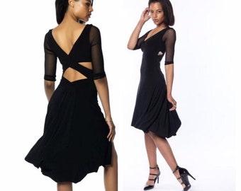 b721ef0df62b Black Tango Dress - tulle sleeves