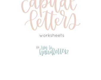 Capital Letters Brush Lettering Worksheets
