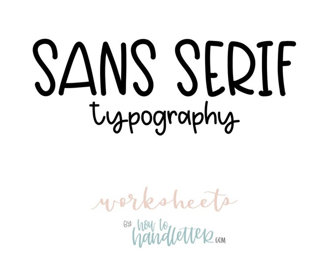 Featured listing image: Sans Serif Block Letters Uppercase & Lowercase Worksheets - Printable Lettering Practice Sheets