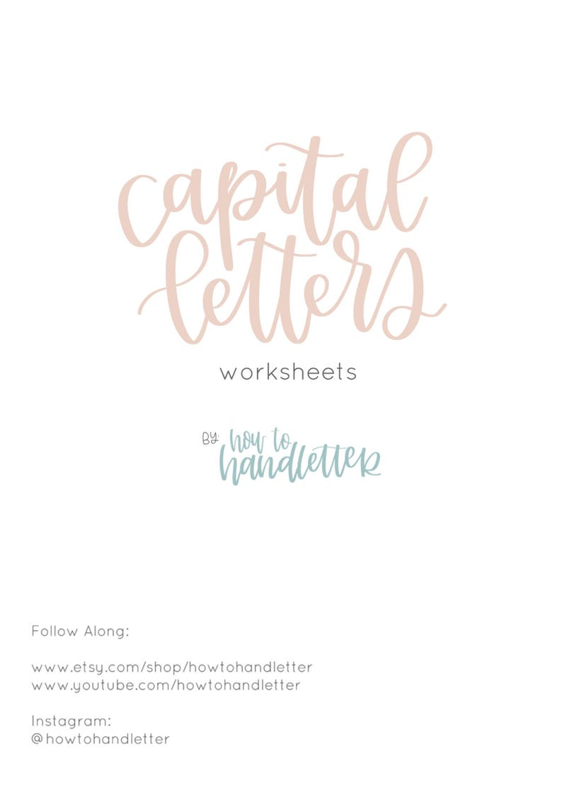 image about Lettering Printable identified as Cash Letters Brush Lettering Worksheets - Printable Lettering Prepare Sheets