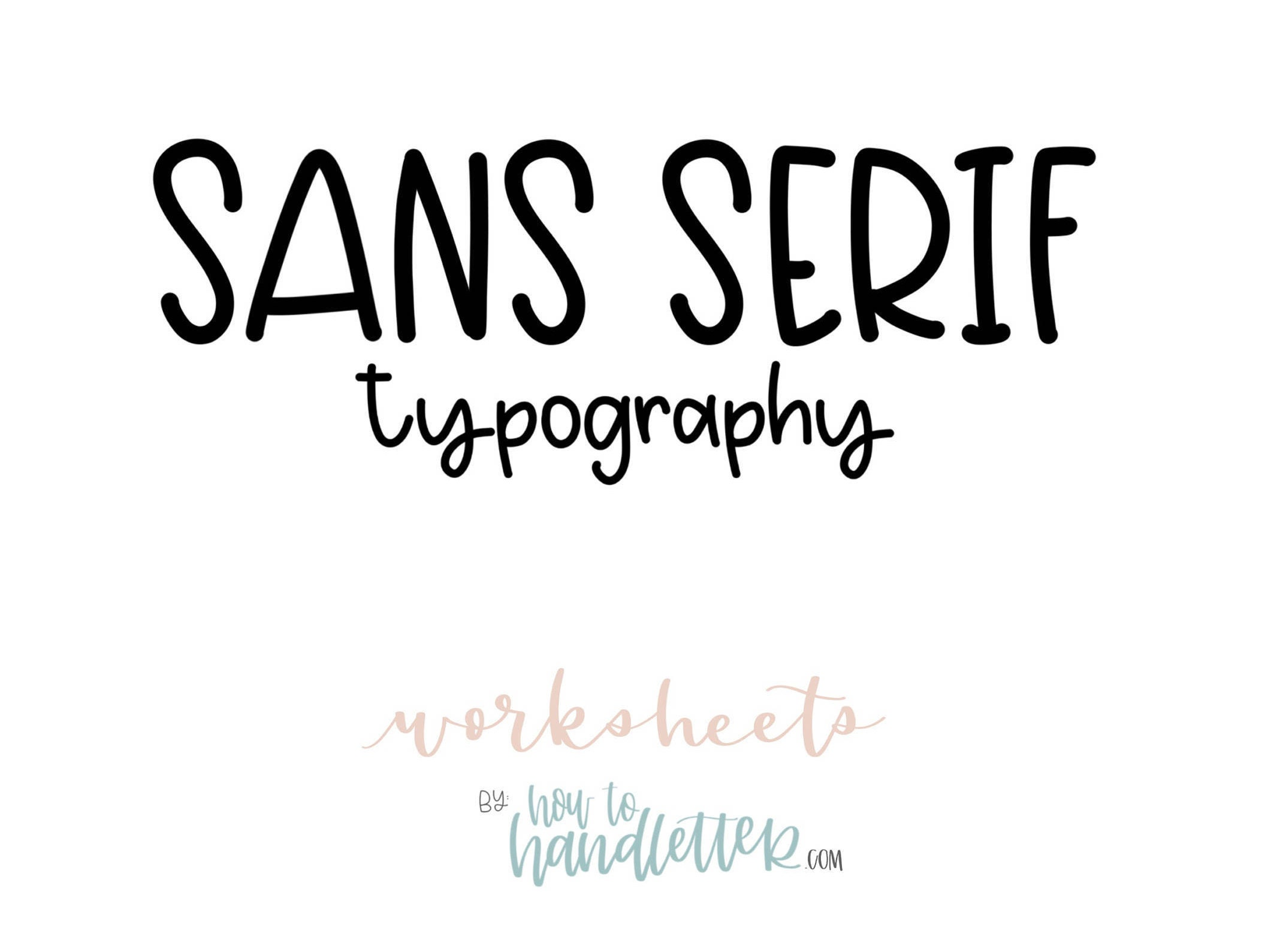Sans Serif Block Letters Uppercase & Lowercase Worksheets