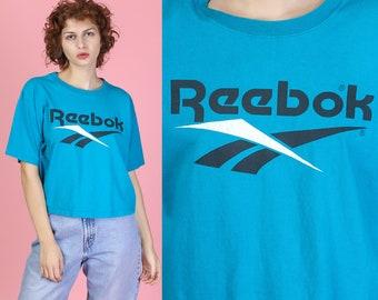 bb6753b277356c 90s Reebok Cropped T Shirt - Large