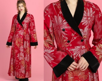 daf2c1821483c3 Rare 1930s Ruby Red Lamé Coat - Medium | 30s 40s Silver Gold Metallic Lamé  Black Silk Velvet Cinched Waist Jacket