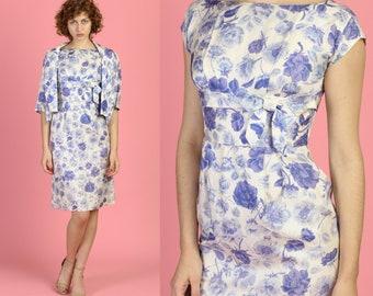 d4051f8e22 Vintage 50s Aldens Floral Sheath Dress   Jacket - Small