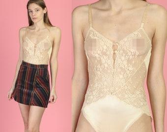 14ab2a65b Vintage Vanity Fair Sheer Lace Teddy - Small