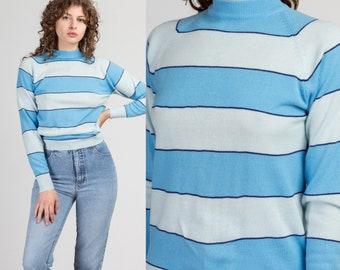 Cute!! PRETTY Vintage 1970/'s Striped Cotton Top