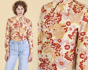 70s Collared Shirt Etsy