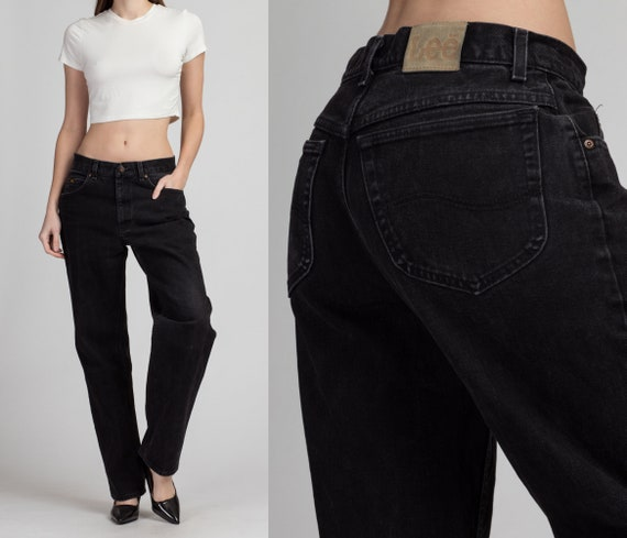 Vintage Lee Black Unisex Jeans - 32x31 | Denim Hig