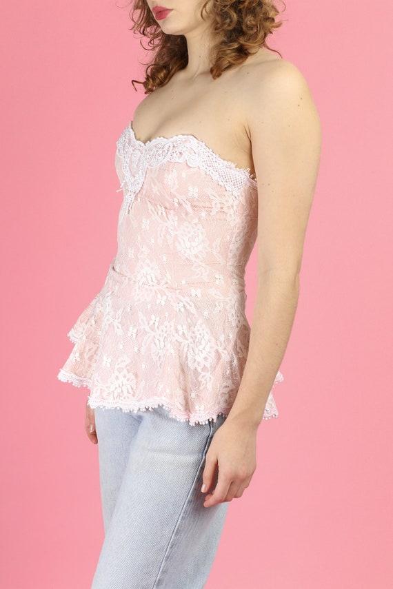 Vintage Scott McClintock Lace Bustier Top - Small… - image 2
