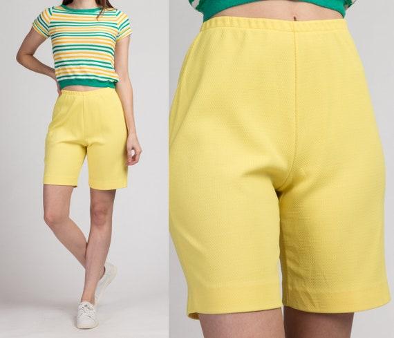 70s Jantzen Yellow High Waist Shorts - Small | Vin