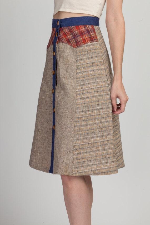 70s Pandora Boho Patchwork Skirt - Extra Small | … - image 3