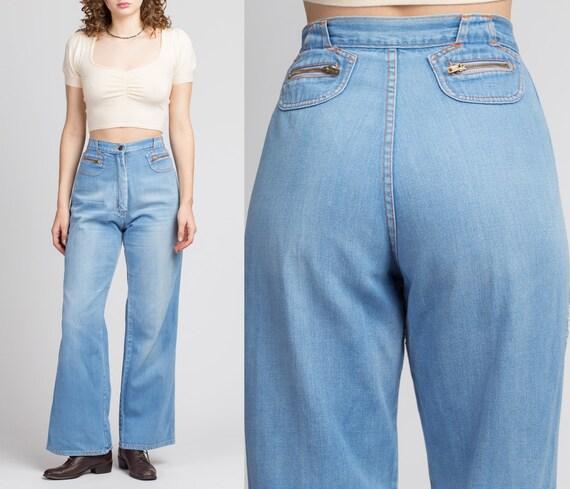 "70s High Waist Flared Jeans - Medium, 29"" | Vintag"