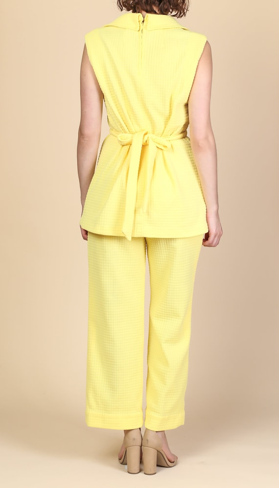 70s Mod Two Piece Outfit - Large | Vintage Yellow… - image 7