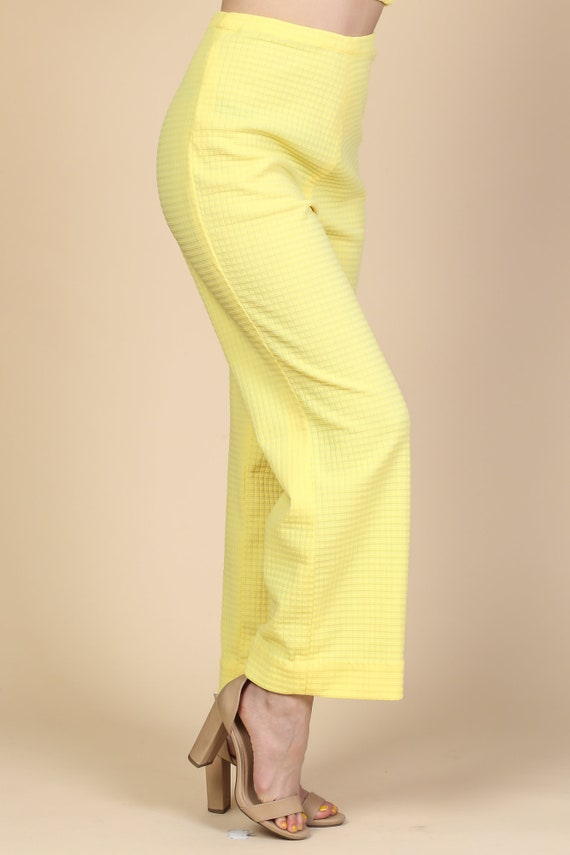 70s Mod Two Piece Outfit - Large | Vintage Yellow… - image 5