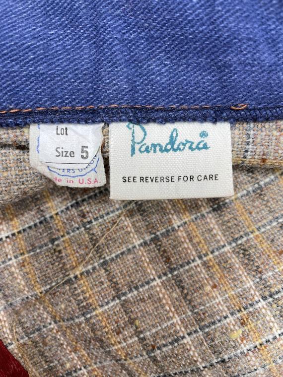 70s Pandora Boho Patchwork Skirt - Extra Small | … - image 6