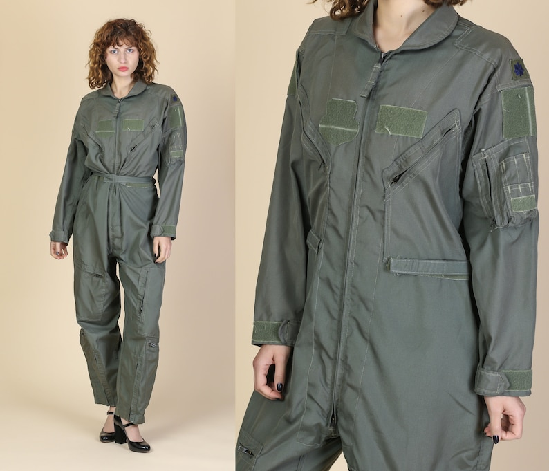 ca434c4b8a6 Vintage Air Force Jumpsuit 44S Aramid Military Flight Suit